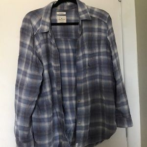 Oversized destroyed flannel